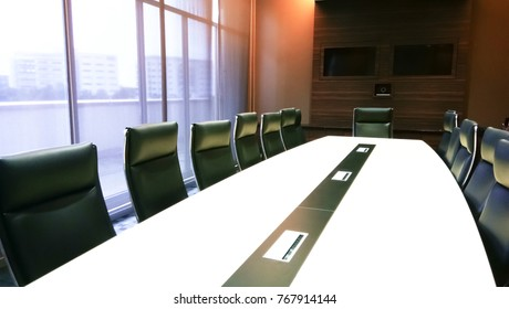 Conference room with online meeting system