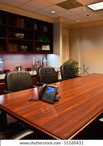 Conference Room Table Leather Chairs Ip Stock Photo Edit Now