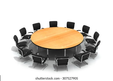conference round table and chairs