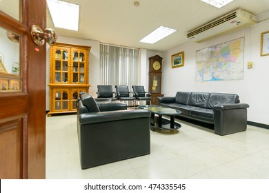 Conference table and chairs in meeting room in kyoritsu kiden fuji (T) co.,ltd. Location Amata Nakorn Industrial Estate. T. Don Hua Loh, Muang Chon Buri, Chon Buri, Thailand, taken on August 25, 2016