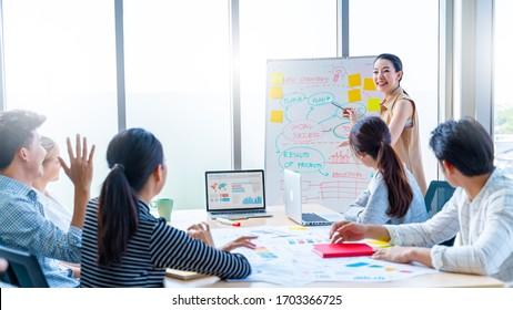 Die Konferenzen, Ausbildung, Business, Start-up Concept.Group of smart Business Finance Corporate Development .Business Event Schulungsseminar und gratulieren Erfolg der Organisation.