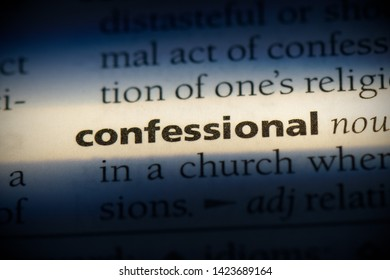 confessional word in a dictionary. confessional concept.
