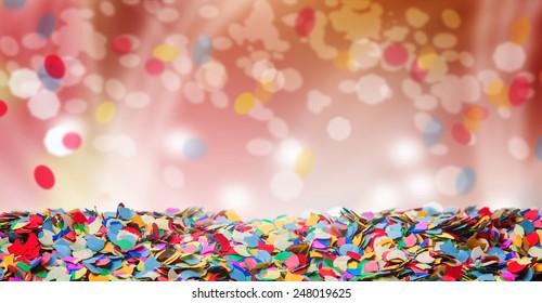 Confetti, background, carnival, bokeh