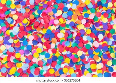Confetti, colorful and round