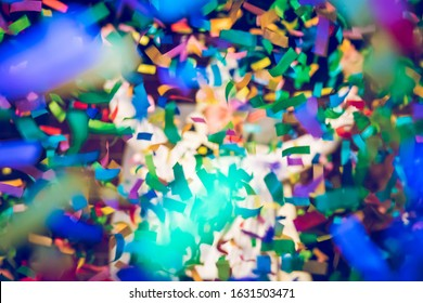 Confetti flying around when prince carnaval is announced.