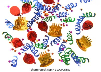 confetti party colorful background isolaed