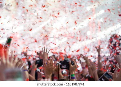 confetti party multiethnic group of people