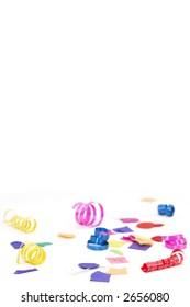 confetti and ribbon