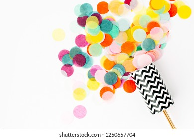 Confetti shots out