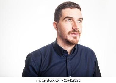 Confident Adult Man Profile Portrait