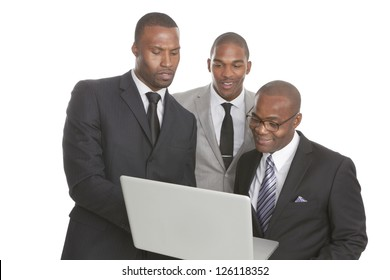 Confident African American Business Team isolated on white background.