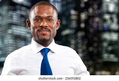 Confident african manager portrait