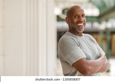 Confident African-American man.