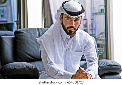 Confident Arab Businessman Portrait ( Arabic positive Attitude Rich Man )