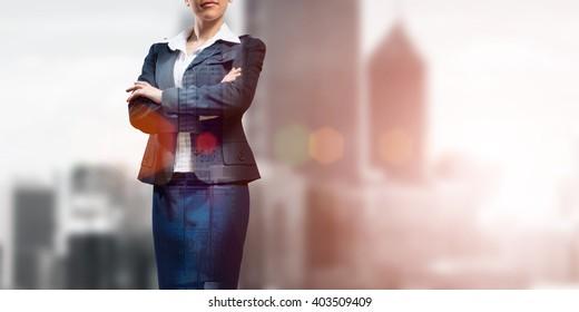 Confident business leader