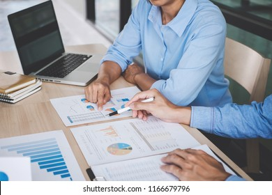 Confident business leader, business team meeting conference in office, The senior executive working and discussing new project investment plan with Secretary and strategy in business profit.