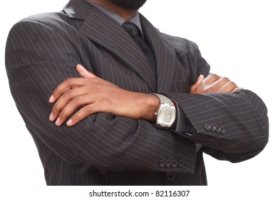 Confident business man's hands