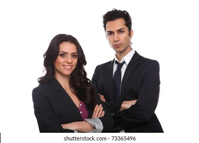 Confident Business People isolated on white background