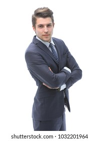 confident businessman looking at the camera