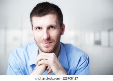 Confident businessman portrait.
