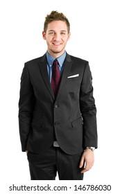 Confident businessman portrait