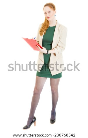 Confident Businesswoman Wearing Green Dress Jacket Stock Photo Edit