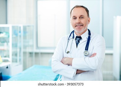 Confident general practitioner is ready to work