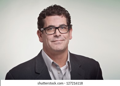 Confident handsome professional man with glasses
