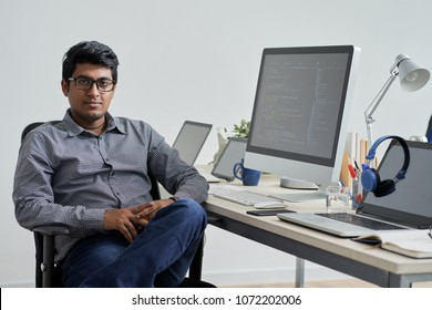 Confident Indian It company owner