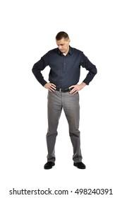 Confident man posing