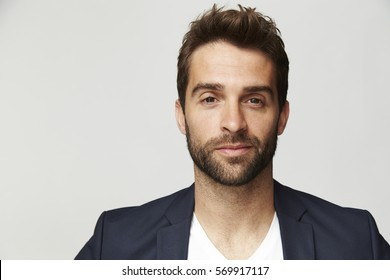 Confident man in suit jacket, portrait
