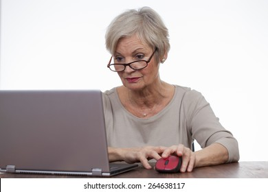 confident neat senior woman various situations at home