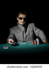 Confident poker player
