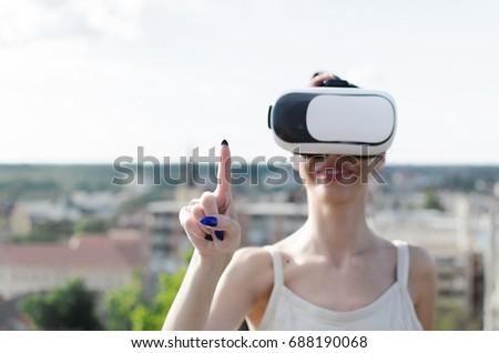 Virtual girl on top