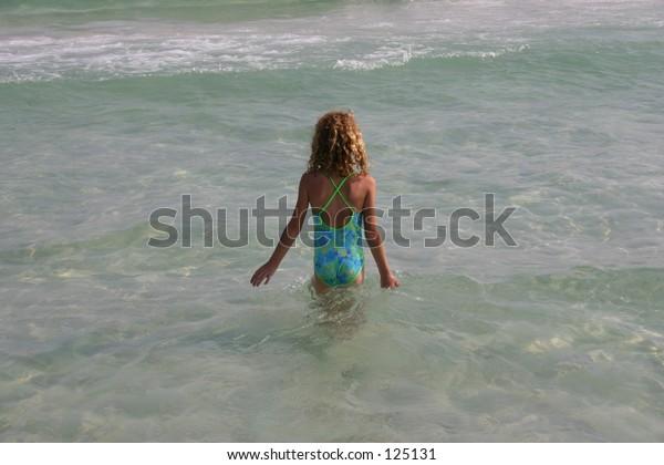 Confident swimmer