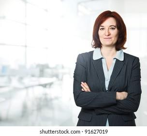 confident woman portrait in office