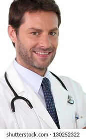 Confident young doctor