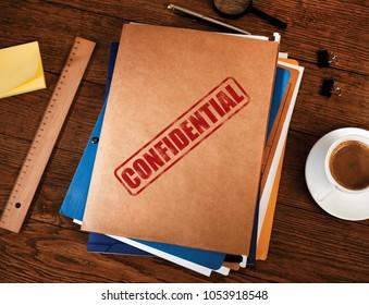 Confidential manila folders