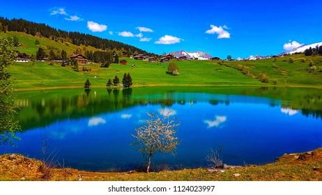 Confins lake, la Clusaz, France