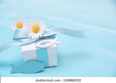 Confirmation and Communion Greeting Card with Religious Symbols