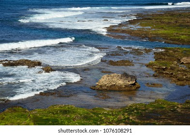 The confital, beautiful rocky beach, coast of Las palmas, Gran canaria, Canary islands