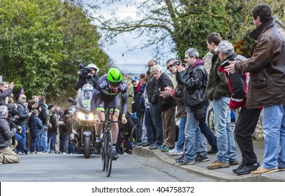 CONFLANS-SAINTE-HONORINE,FRANCE- MARCH 6: The British cyclist Daniel Mc Lay of Fortuneo-Vital Concept Team riding during the prologue stage of Paris-Nice in Conflans-Sainte-Honorine,on March 6 2016.
