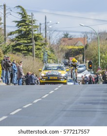 CONFLANS-SAINTE-HONORINE,FRANCE- MARCH 6: The Dutch cyclist Steven Kruijswijk of Lotto NL-Jumbo Team riding during the prologue stage of Paris-Nice in Conflans-Sainte-Honorine,on March 6 2016.