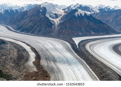 Confluence of the Kaskawulsh Glacier in Kluane National Park, Yukon, Canada