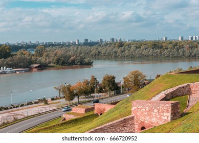 Confluence of River Sava and Danube in Belgrade