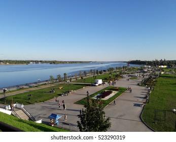 "Confluence of the rivers Volga and Kotorosl (parkland ""Strelka""), Yaroslavl. September 11th, 2016"