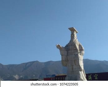 Confucius statue in China