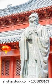 Confucius statue. Located in Fuzi Miao (Confucian Temple), Nanjing, Jiangsu, China.