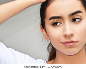 Confused Hispanic Teenager