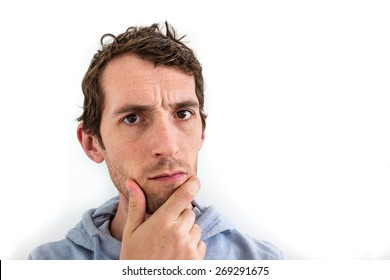 Confused Man Scratching His Chin
